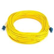 Monoprice® 25 m LC to LC Single Mode Duplex Fiber Optic Cable, Yellow