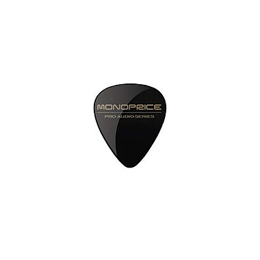 Monoprice® 12 Piece Medium Celluloid Guitar Picks, Solid Black