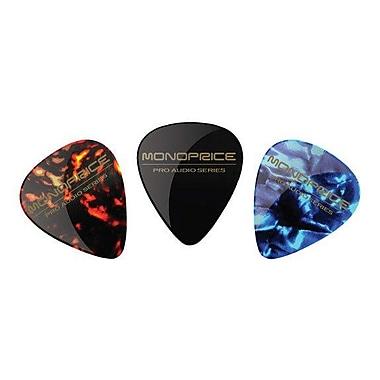 Monoprice® 12 Piece Medium Celluloid Guitar Picks, Assorted