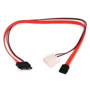 Monoprice® 1.3' Slim SATA to SATA Data and Power Combo Cable