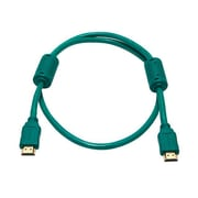 Monoprice® 3' High Speed HDMI Male to Male 28AWG Cable With Ferrite Cores, Green