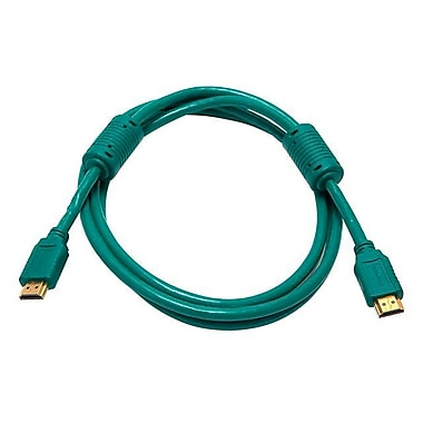 Monoprice® 6' High Speed HDMI Male to Male 28AWG Cable With Ferrite Cores, Green