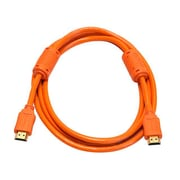 Monoprice® 6' High Speed HDMI Male to Male 28AWG Cable With Ferrite Cores, Orange