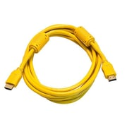 Monoprice® 10' High Speed HDMI Male to Male 28AWG Cable With Ferrite Cores, Yellow