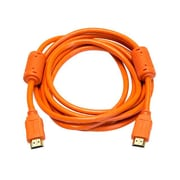 Monoprice® 10' High Speed HDMI Male to Male 28AWG Cable With Ferrite Cores, Orange