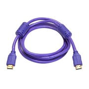 Monoprice® 6' High Speed HDMI Male to Male 28AWG Cable With Ferrite Cores, Purple