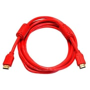 Monoprice® 10' High Speed HDMI Male to Male 28AWG Cable With Ferrite Cores, Red