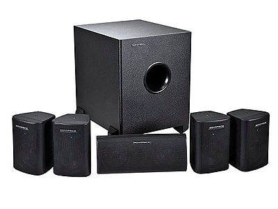 Monoprice 125W 5.1 Channel Home Theater Speaker System Black