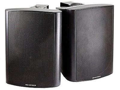 Monoprice 25W 2 Way Active Wall Mount Speakers