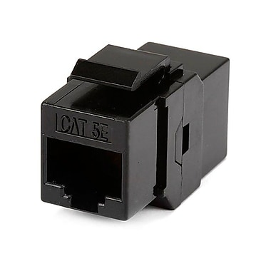 Monoprice 107285 CAT-5e RJ-45 Inline Coupler Type Keystone Jack, Black