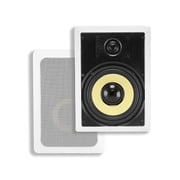 "Monoprice® 120W 8"" Kevlar 2 Way In-Wall Speaker, White"
