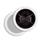"Monoprice® 100W 6.5"" 3 Way Glass Composite Stereo In-Ceiling Speaker, White"