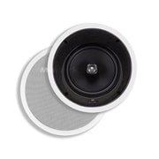 "Monoprice® 160W 8"" Kevlar In-Ceiling Speaker With 15 Degree Angled Woofer, White"