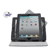 Monoprice® 360 Degree Swivel Cover and Stand For All 9.7 iPad, Black/Gray