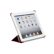 Monoprice® Cover and Stand With Magnetic Latch For iPad 2/3/4, Red