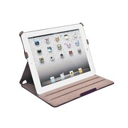 Monoprice® Duo Case and Stand With Magnetic Latch For iPad Air, Plum