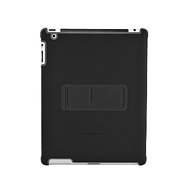 Monoprice® Polycarbonate & Synthetic Leather Stand Case For iPad 2, Black