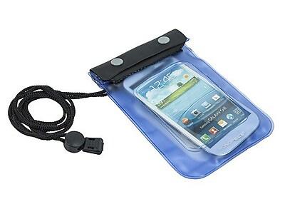 Monoprice WeatherProof Pouch For Smartphones, Blue/Black