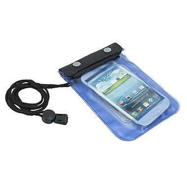 Monoprice® WeatherProof Pouch For Smartphones, Blue/Black