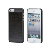 Monoprice® Neutra PC Soft Touch With Steel Case For iPhone 5/5s, Black