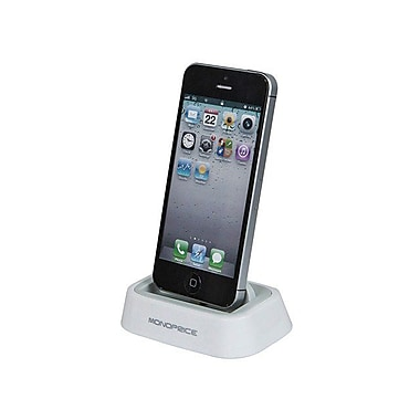 Monoprice® Tabletop Charge/Sync Docking Station For iPhone 5/5s/5c, White