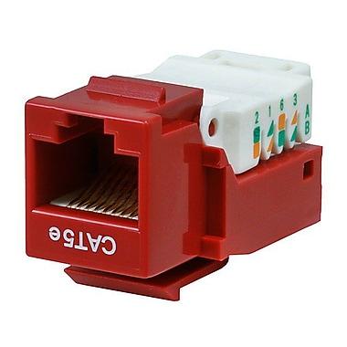 Monoprice® Cat5e RJ-45 Toolless Keystone Jack, Red