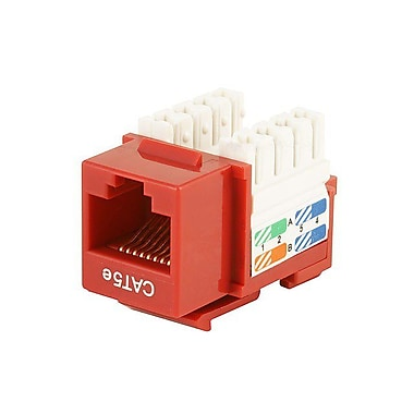 Monoprice® Cat5e Punch Down Keystone Jack, Red