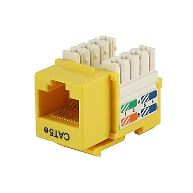 Monoprice® Cat5e Punch Down Keystone Jack, Yellow