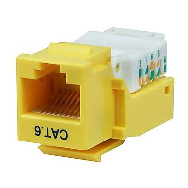 Monoprice® Cat6 RJ-45 Toolless Keystone Jack, Yellow