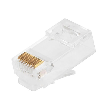 Monoprice® Cat6 Plug Solid Connector With Insert 50u