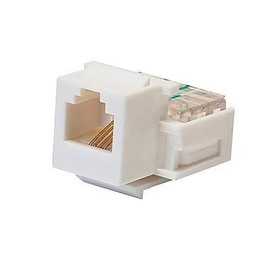 Monoprice® RJ-11 Toolless Keystone Jack, White
