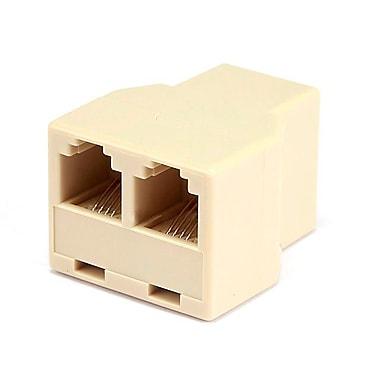 Monoprice® 1F/2F T 6P4C Adapter, Beige