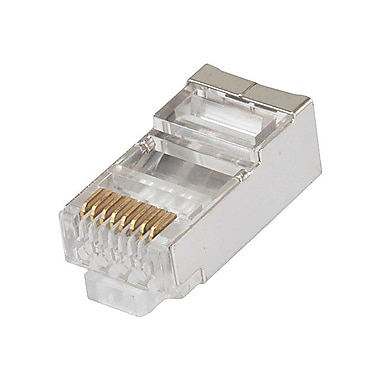 Monoprice 107301 CAT-6 RJ-45 Shielded Stranded Connector, White