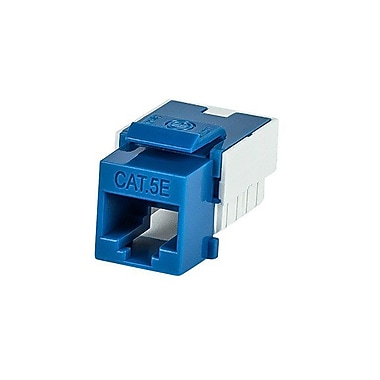 Monoprice 110042 CAT-5e Punch Down Keystone Jack, Blue