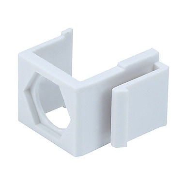 Monoprice® Blank Insert For F Type Connector, White