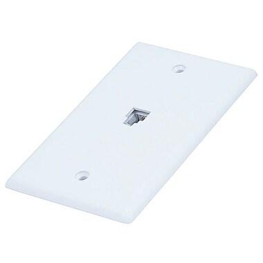 Monoprice® 6P4C Smooth Type Single Wall Plate Jack, White