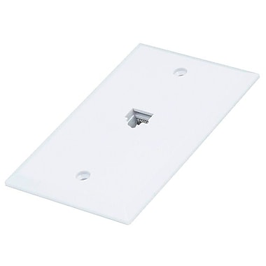 Monoprice® 8P8C Flush Type Single Wall Plate Jack, White