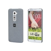 Monoprice® Polycarbonate Case With Soft Sand Finish For LG G2, Granite Gray