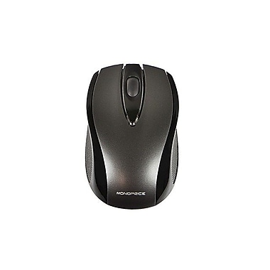 Monoprice 109256 USB RF Wireless Optical Mouse, Black/Gray