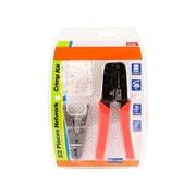 Monoprice® RJ-45/RJ11 Stripping and Crimping Tool Kit With Modular Plugs