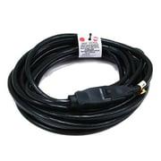 Monoprice® 25' 16AWG NEMA 5-15P to NEMA 5-15R Power Extension Cord, Black