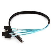 Monoprice® 0.5 m Internal Mini SAS 36pin Male to SATA 7pin Female Forward Breakout Cable, Black