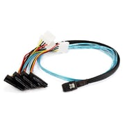 Monoprice® 1 m 28AWG Internal Mini SAS 36pin Male to SAS 29pin Female Power Cable, Black