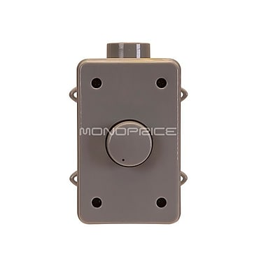 Monoprice® 108235 50 W Outdoor Speaker Volume Controller, Gray
