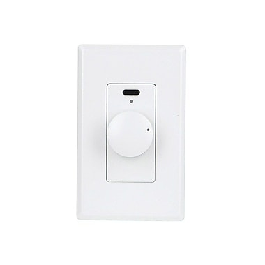 Monoprice® 110220 100 W Rotary Speaker Volume Controller With IR Function, White