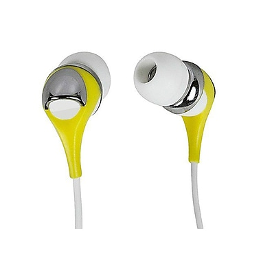 Monoprice® Enhanced Bass Noise Isolating Hi-Fi Earphones With Microphone For iPhone/iPod, Yellow
