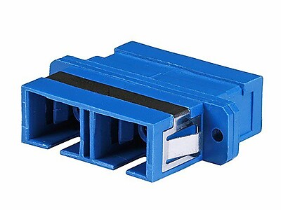 Monoprice Multimode SC/SC Duplex Fiber Optical Adapter, Blue 1254719