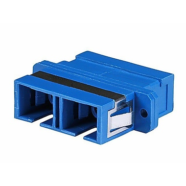Monoprice® Multimode SC/SC Duplex Fiber Optical Adapter, Blue