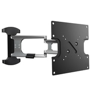 "Monoprice® 110474 Articulating TV Wall Mount For 17""-37"" Flat Panels Up to 44 lbs, Black/Silver"