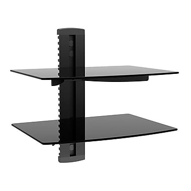 Monoprice® 110479 2-Shelf Wall Mount Bracket For TV Components Up to 17.6 lbs., Black